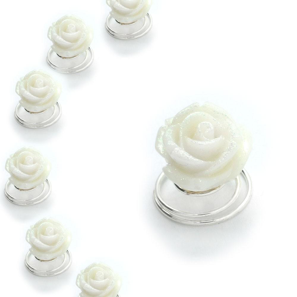 Haarnadeln Curlies Haarspiralen Hochzeit Brautschmuck Kommunion Haarschmuck Set