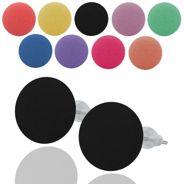 1 paar ohrstecker ohrringe in trendigen farben buttons. Black Bedroom Furniture Sets. Home Design Ideas