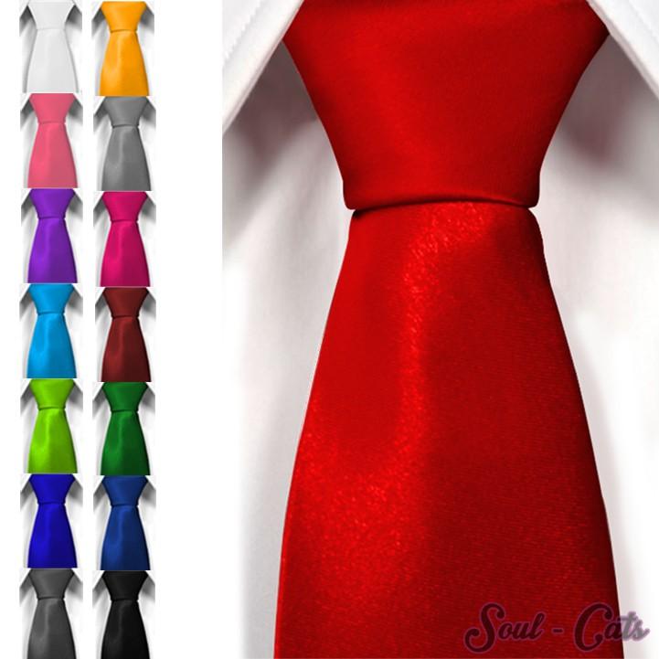 neu klassische krawatte inkl anleitung breit viele farben satin schlips herren. Black Bedroom Furniture Sets. Home Design Ideas