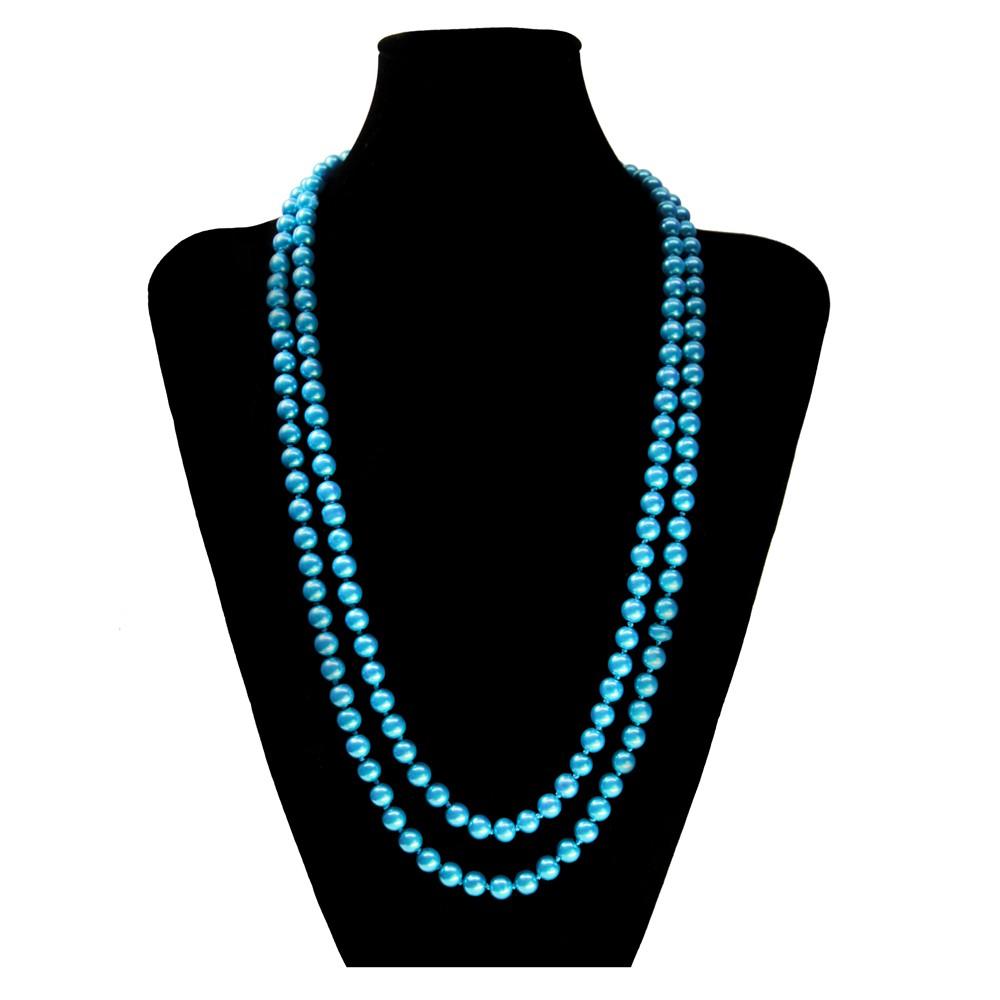 eine s e kette perlenkette perlen viele farben xxl lang kurz pink blau creme modeschmuck ketten. Black Bedroom Furniture Sets. Home Design Ideas