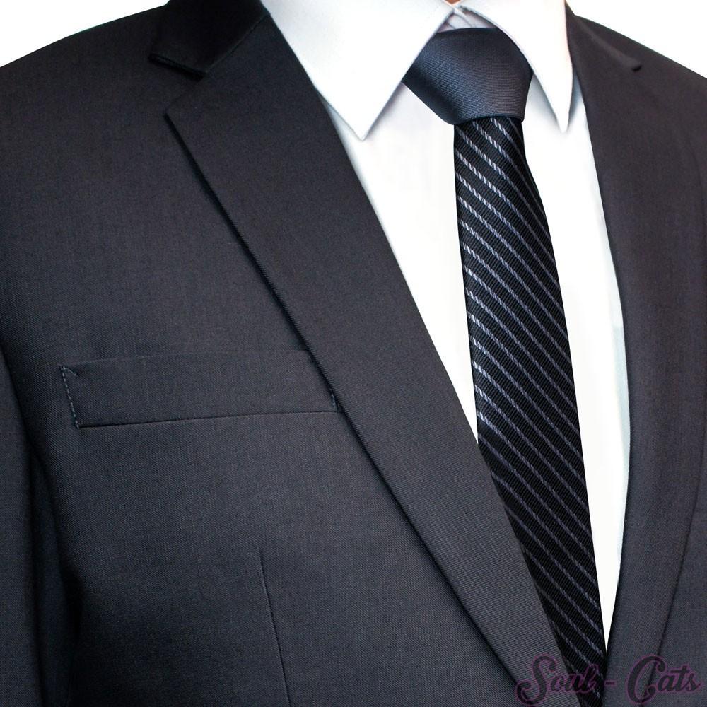 herren krawatte zweifarbig gestreift accessoires krawatten. Black Bedroom Furniture Sets. Home Design Ideas