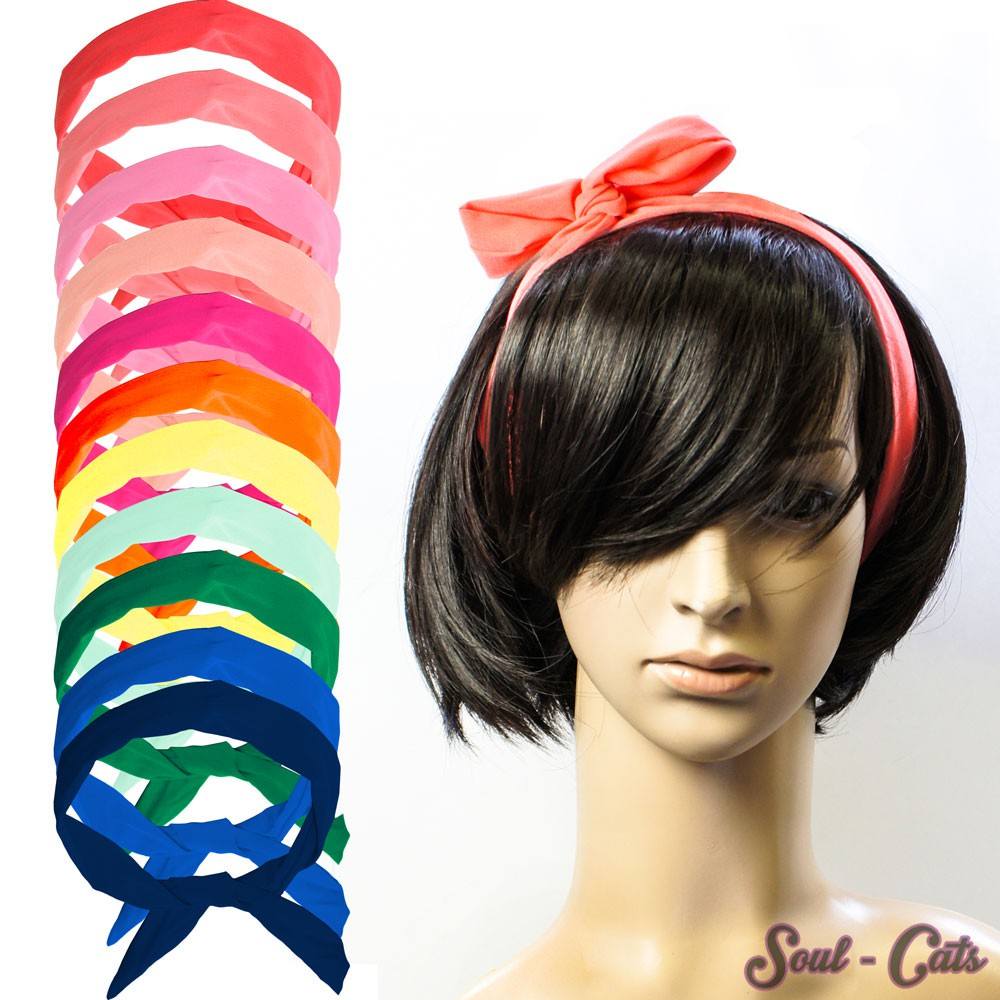 1 haarband mit draht viele versch styles m glich pink rosa gr n gelb marine blau modeschmuck. Black Bedroom Furniture Sets. Home Design Ideas
